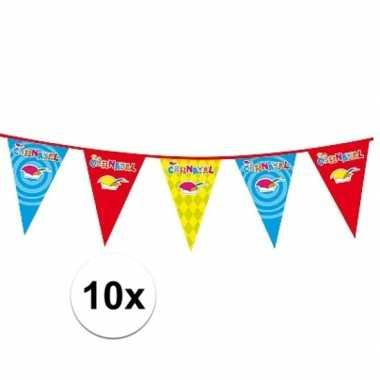 10x carnaval versiering slingercarnavalskleding