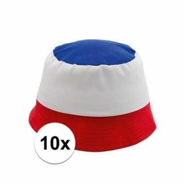 10x franse supporters hoedjescarnavalskleding