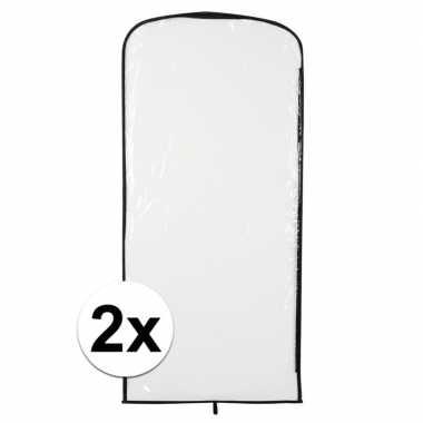 2x carnavaskleding hoes transparant 95 x 42 cmcarnavalskleding