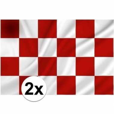 2x vlaggen van noord brabantcarnavalskleding