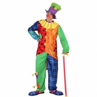 3-delig clown kostuum voor mannencarnavalskleding