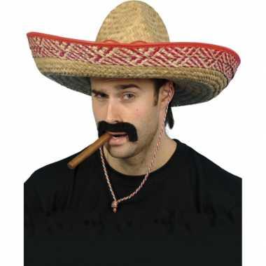 4x stuks carnaval/feest mexicaanse sombreros hoeden voor volwassenencarnavalskleding