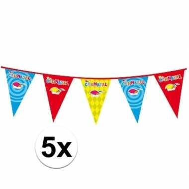 5x carnaval versiering slingercarnavalskleding