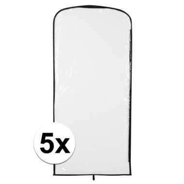 5x carnavaskleding hoes transparant 95 x 42 cmcarnavalskleding