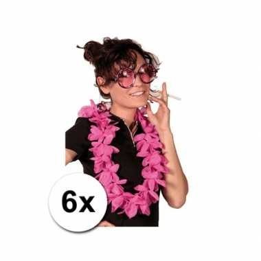 6 hawaii kransen rozecarnavalskleding