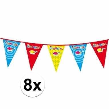 8x carnaval versiering slingercarnavalskleding