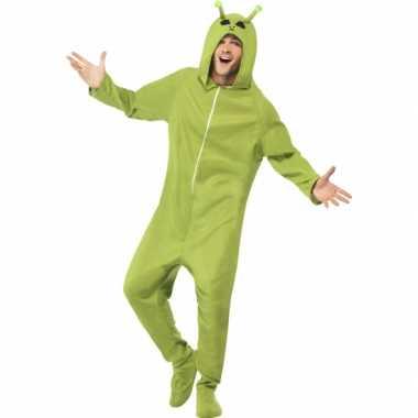 Alien onesie pak carnavalskleding