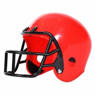 American football helm rood voor kinderencarnavalskleding