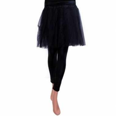 Ballet tule rokje zwart voor meisjescarnavalskleding