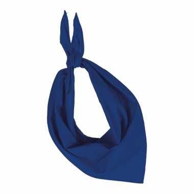 Bandana zakdoeken kobalt blauwcarnavalskleding