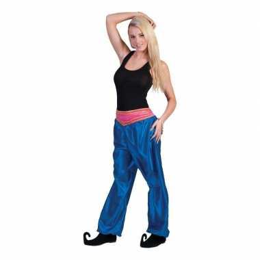 Blauwe arabische broek voor damescarnavalskleding