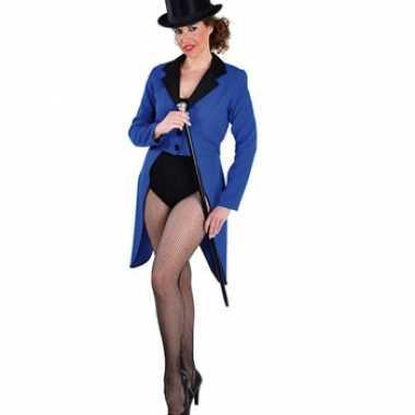 Blauwe dames slipjascarnavalskleding