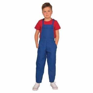Blauwe verkleed overall voor kinderencarnavalskleding