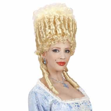 Blonde barok pruikcarnavalskleding