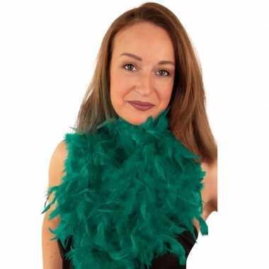 Boa smaragd groen 180 cmcarnavalskleding