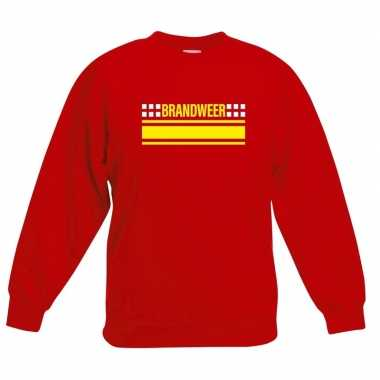 Brandweer logo sweater rood voor kinderencarnavalskleding