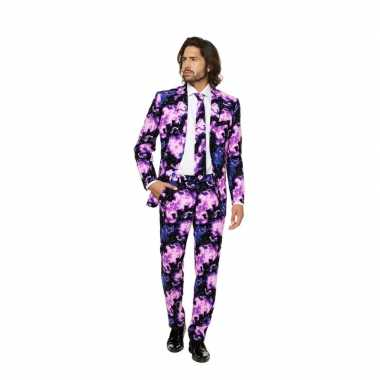 Business suit met galaxy printcarnavalskleding