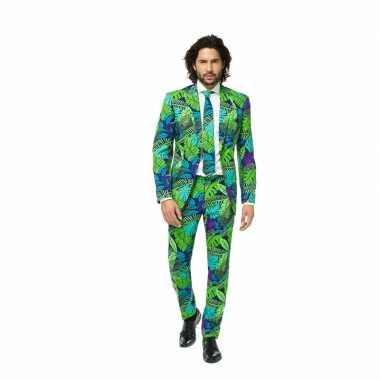 Business suit met jungle printcarnavalskleding