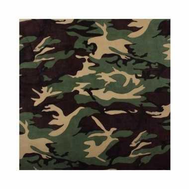 Camouflage militaire bandana 55 cmcarnavalskleding