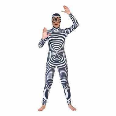 Carnaval catsuit zebra print voor volwassenencarnavalskleding