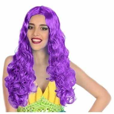 Carnaval dames pruik zeemeermin paarscarnavalskleding