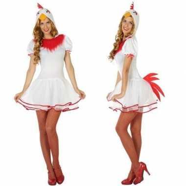 Carnaval dieren kostuum kip voor damescarnavalskleding