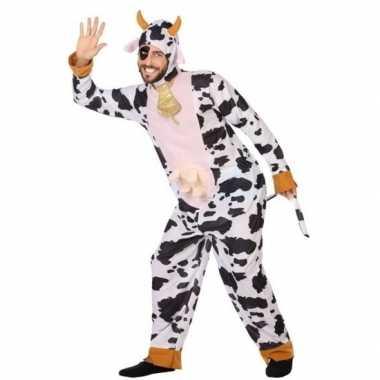 Carnaval dieren kostuum koe voor volwassenencarnavalskleding