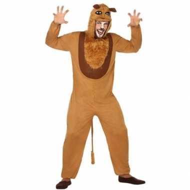 Carnaval dieren kostuum leeuw voor volwassenencarnavalskleding