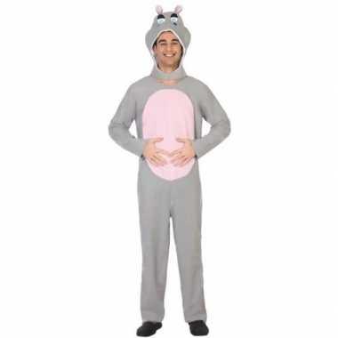 Carnaval dieren kostuum nijlpaard voor volwassenencarnavalskleding