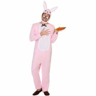 Carnaval dieren kostuum paashaas/konijn voor volwassenencarnavalskled