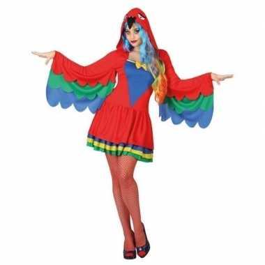 Carnaval dieren kostuum papegaai voor damescarnavalskleding