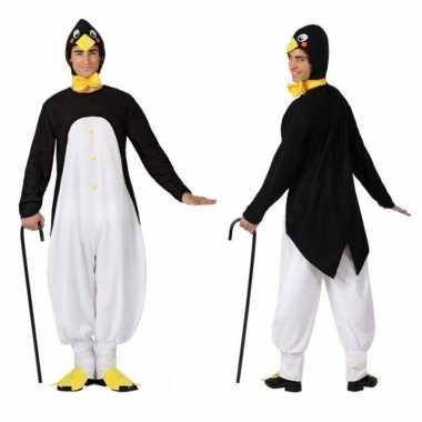 Carnaval dieren kostuum pinguin voor herencarnavalskleding