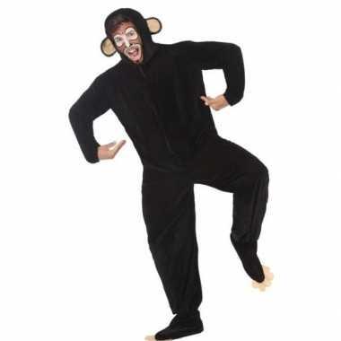 Carnaval/feest aap/chimpansee verkleed outfit voor volwassenencarnava