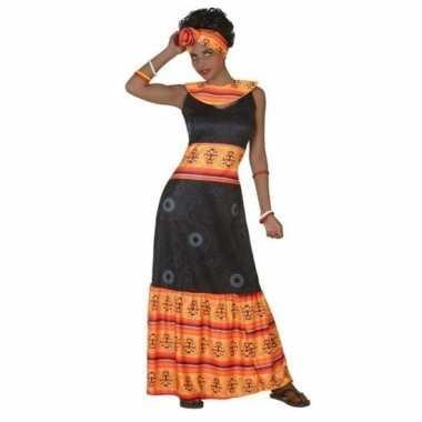 Carnaval/feest afrikaans verkleedoutfit voor damescarnavalskleding