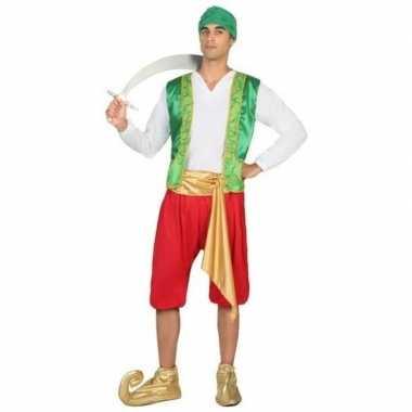 Carnaval/feest arabische strijder/soldaat amir verkleedoutfit voor he