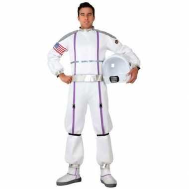 Carnaval feest astronauten verkleed outfit voor heren carnavalskleding