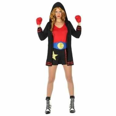 Carnaval/feest bokser verkleed outfit voor damescarnavalskleding