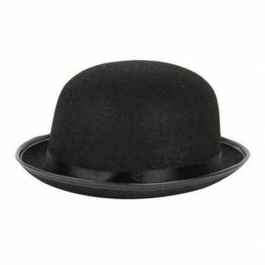 Carnaval/feest bolhoed/bowler hat zwart voor volwassenencarnavalskled