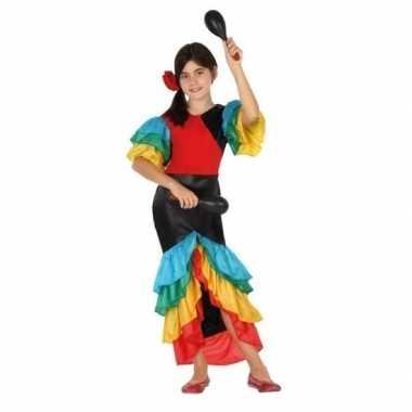 Carnaval/feest braziliaanse verkleedoutfit jurk voor meisjescarnavals