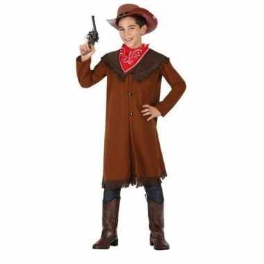 Carnaval/feest bruine cowboy john verkleedoutfit voor jongenscarnaval