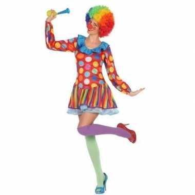 Carnaval/feest clown verkleed jurkje voor damescarnavalskleding