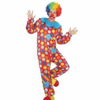 Carnaval/feest clown verkleed outfit voor herencarnavalskleding