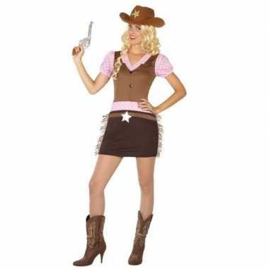 Carnaval/feest cowgirl verkleedoutfit voor damescarnavalskleding