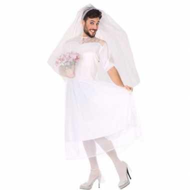 Carnaval/feest fun bruid verkleed outfit voor herencarnavalskleding