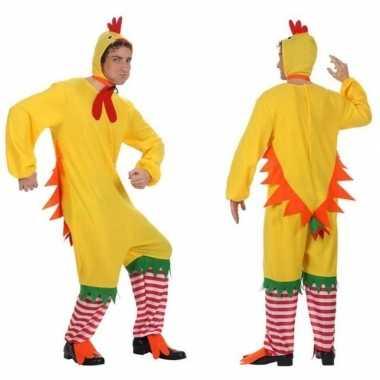 Carnaval/feest haan/kip/kuiken verkleed outfit voor herencarnavalskle