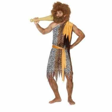 Carnaval/feest holbewoner alley oertijd verkleedoutfit voor herencarn