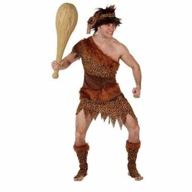 Carnaval/feest holbewoner atouk oertijd verkleedoutfit voor herencarn