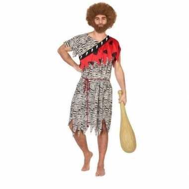 Carnaval/feest holbewoner thag oertijd verkleedoutfit voor herencarna