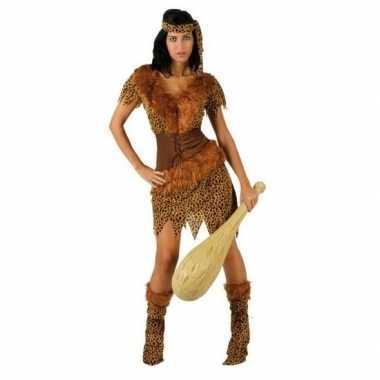 Carnaval/feest holbewoonster ayla oertijd verkleedoutfit voor damesca