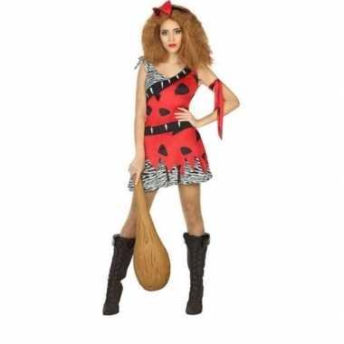 Carnaval/feest holbewoonster loana oertijd verkleedoutfit jurk voor d